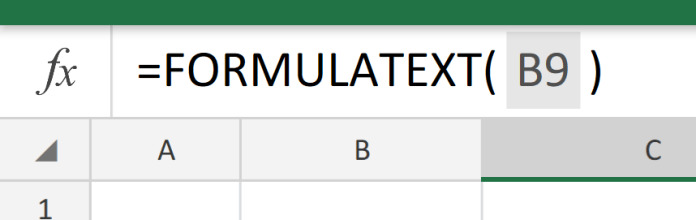 FORMULATEXT to show formulas
