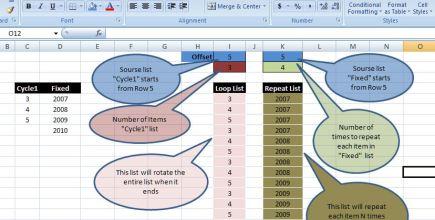 Looplist – Repeating months using formulas