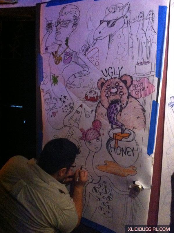 my friends panel at draw bitch