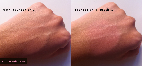 candy doll blush before and after