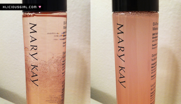mary kay eye makeup remover solution