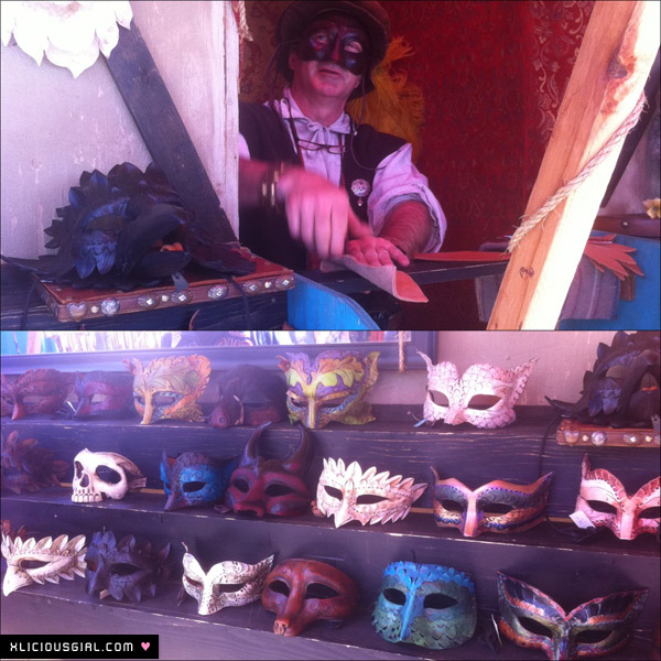 detailed masks and the mask maker