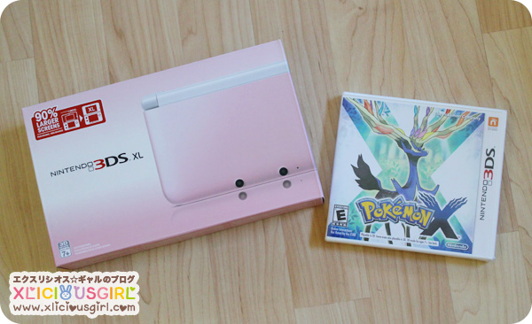 pink xl nintendo 3ds pokemon x 2013