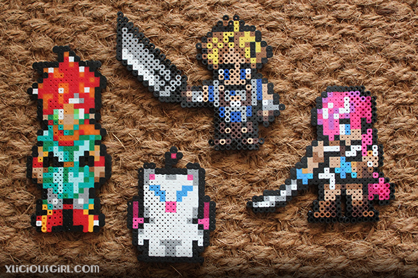 reddit gift exchange secret santa perler beads 8-bit final fantasy