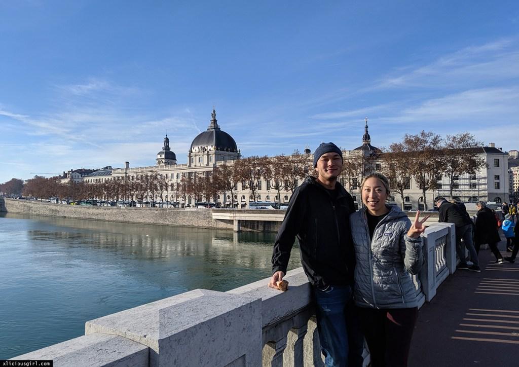 on a bridge in Lyon