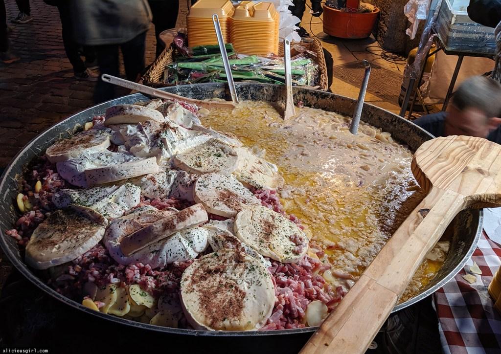 super huge melting pot of all sorts of foods
