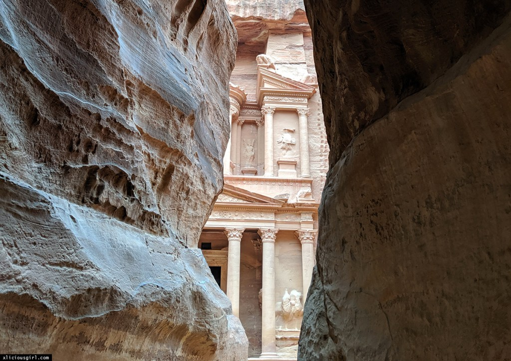Petra through the canyon