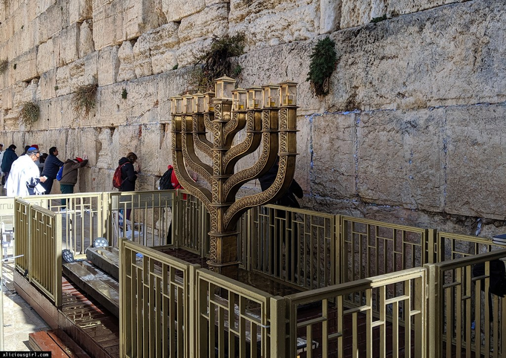 Western Wall Menorah