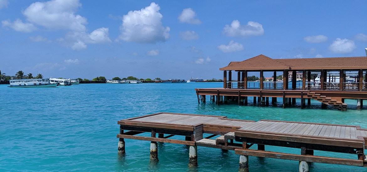 luxurious docks over perfect blue waters