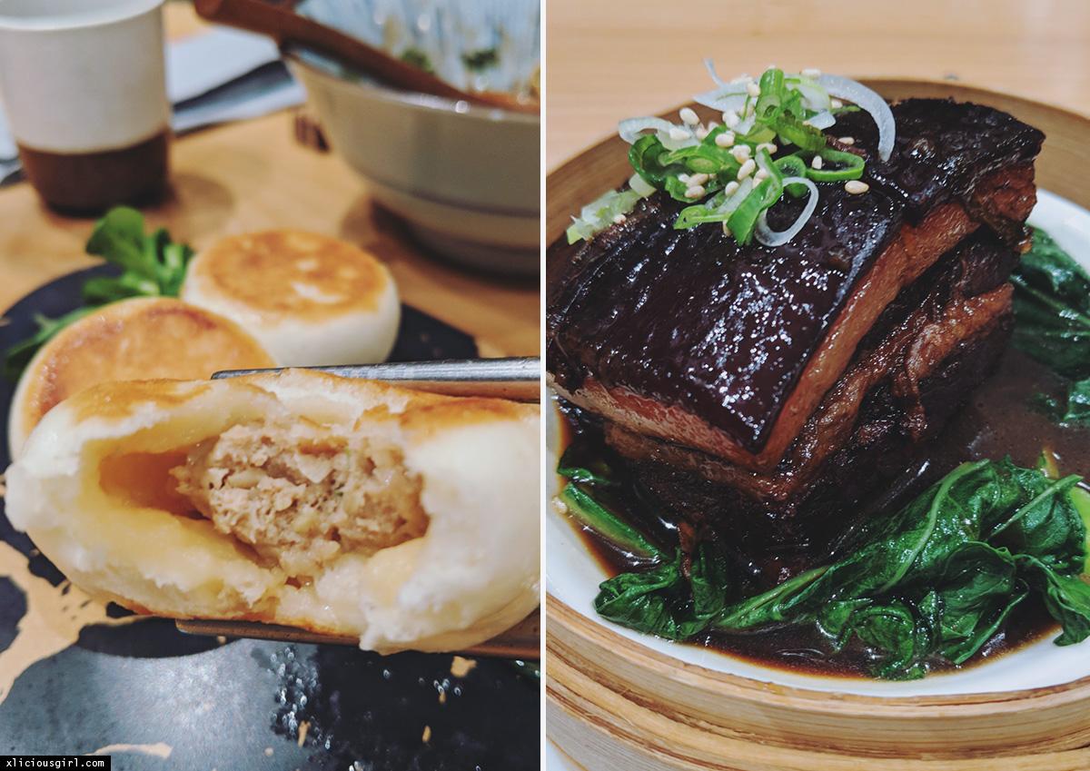 pan fried dumplings and beef