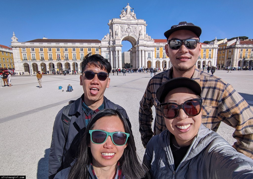 with friends in lisbon