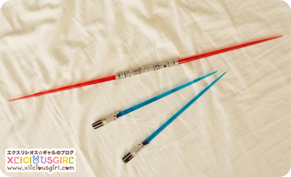 star wars chopstick light sabers