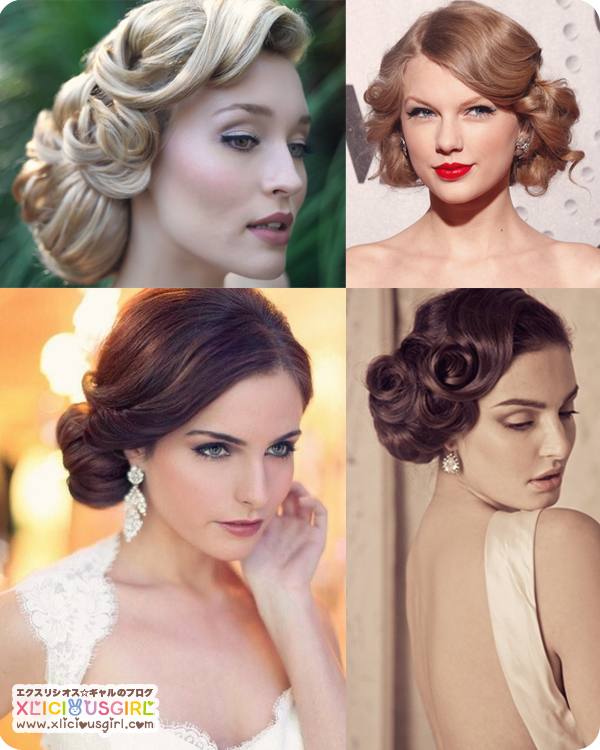 vintage wedding hair styles