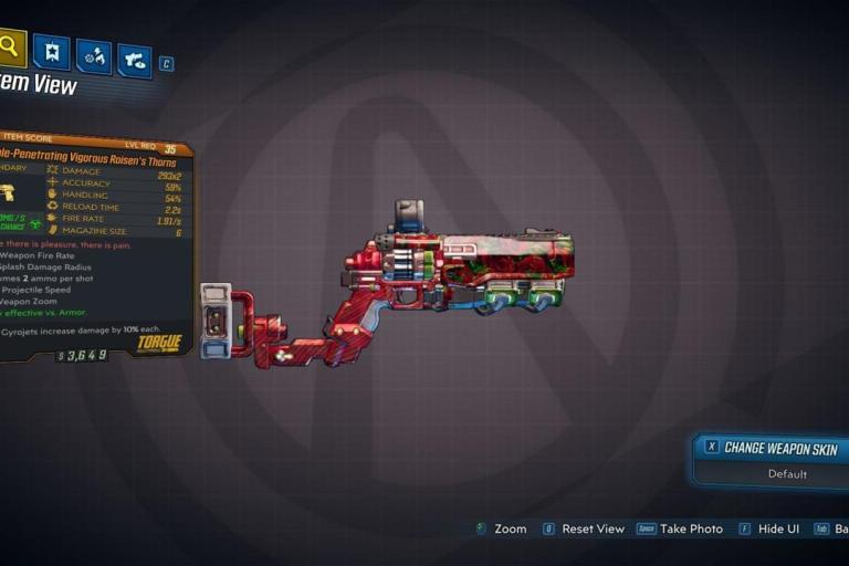 Roisen's Thorns Legendary Weapon