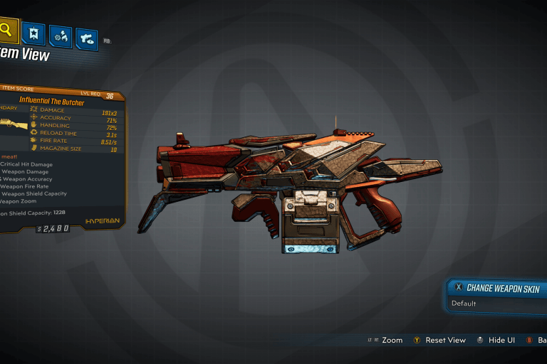 The Butcher Legendary Weapon