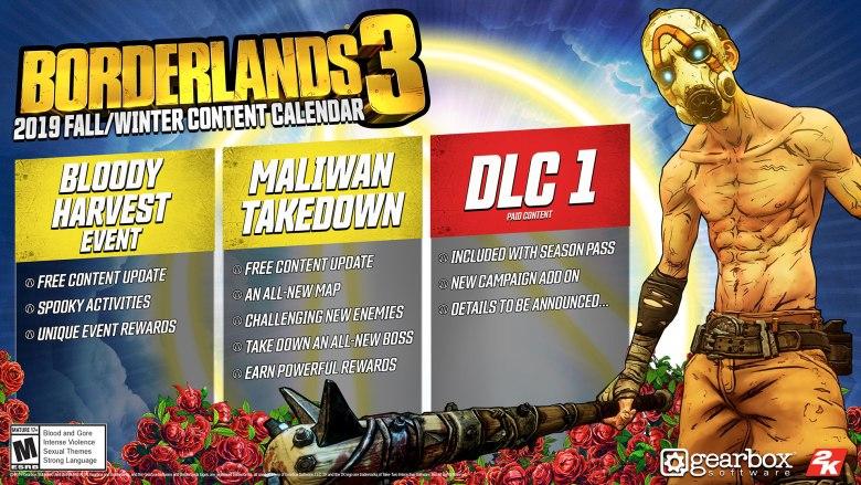 Borderlands 3 Fall/Winter Content & DLC Plans Revealed