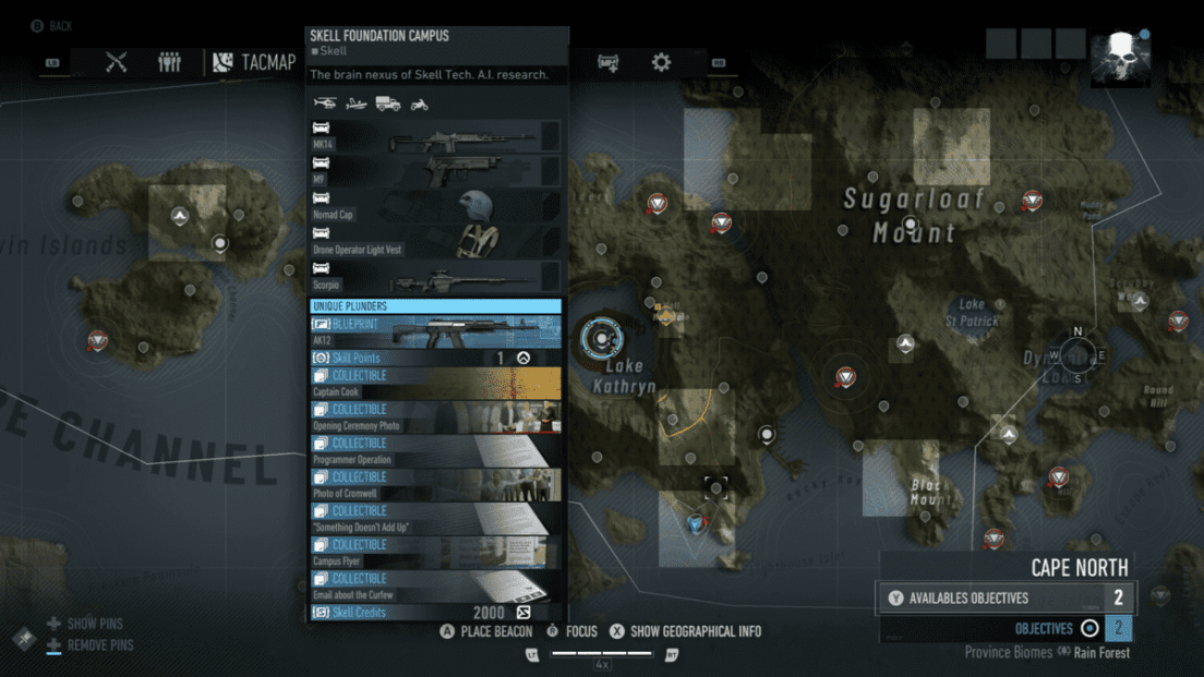 Ghost Recon Breakpoint All 70 Skill Point Locations My Great Capture Screenshot 2019 10 06 16 39 03