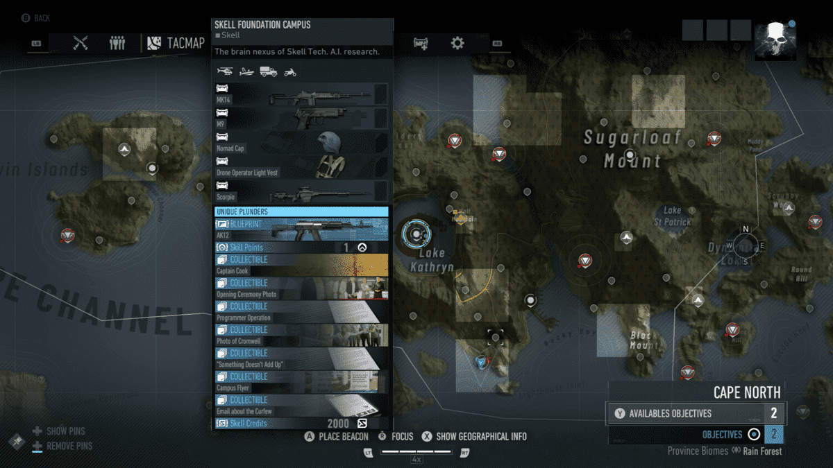 Ghost Recon Breakpoint All 70 Skill Point Locations 2