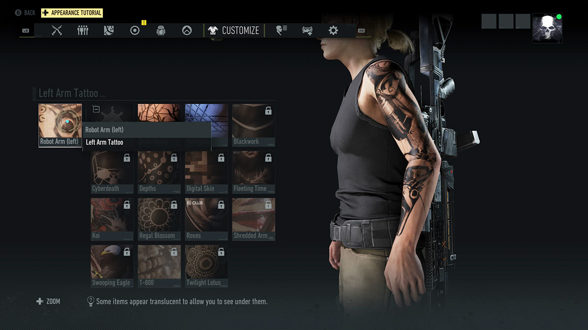 Ghost Recon Breakpoint Robot Arm Tattoo Xlunargaming