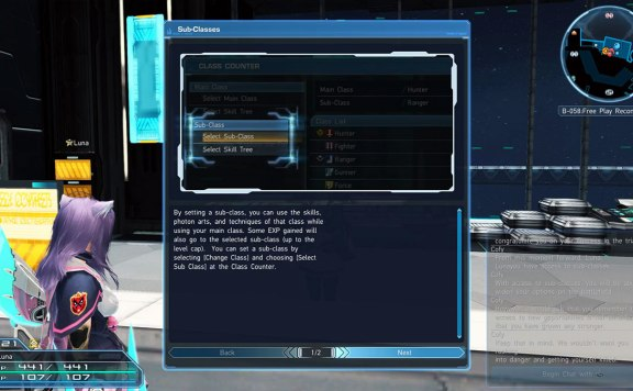 PSO2 How to Unlock Sub Class