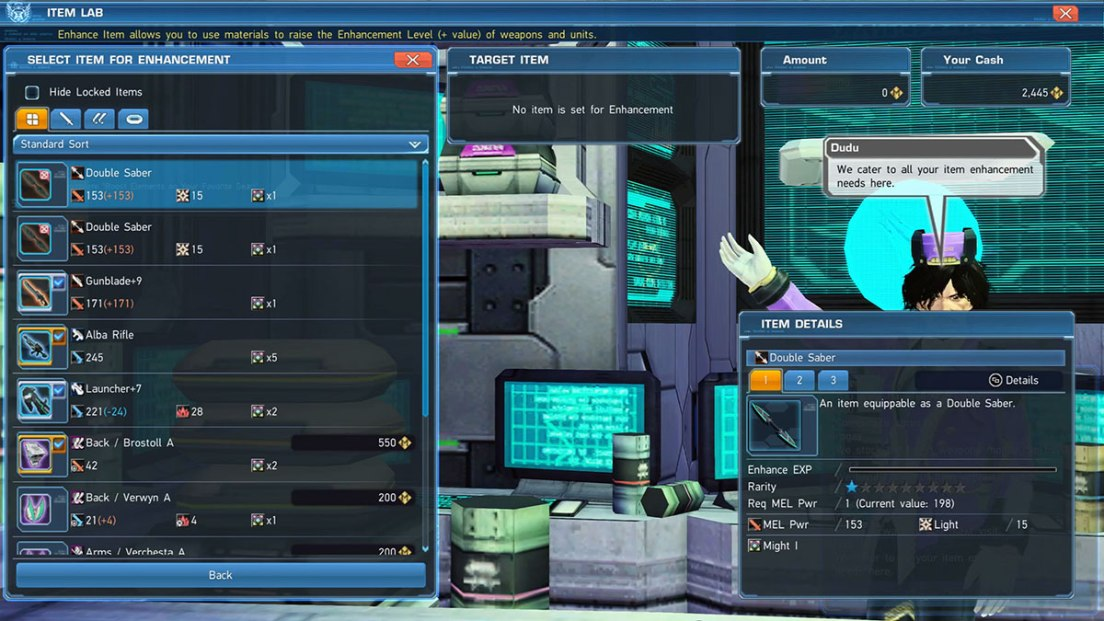 PSO2 How to Enhance Gear