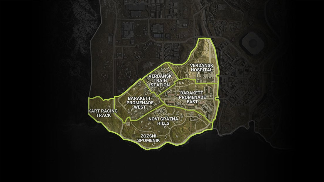 Warzone Map Sector 3