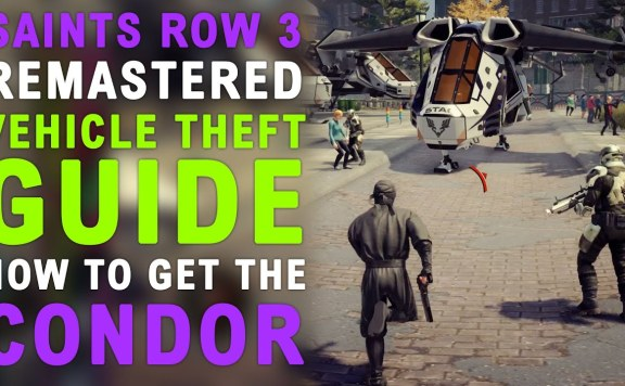 Saints Row The Third Remastered How To Get The Condor