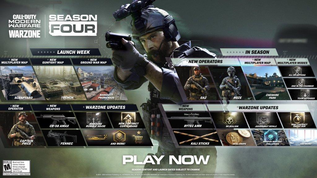 Warzone season 4 roadmap
