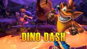 Dino Dash Hidden Gem Flash Back Tape & Bonus Path Crash Bandicoot 4