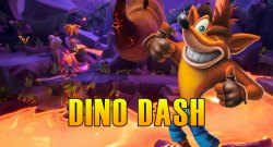Dino Dash Hidden Gem Flash Back Tape & Bonus Path Crash Bandicoot 4