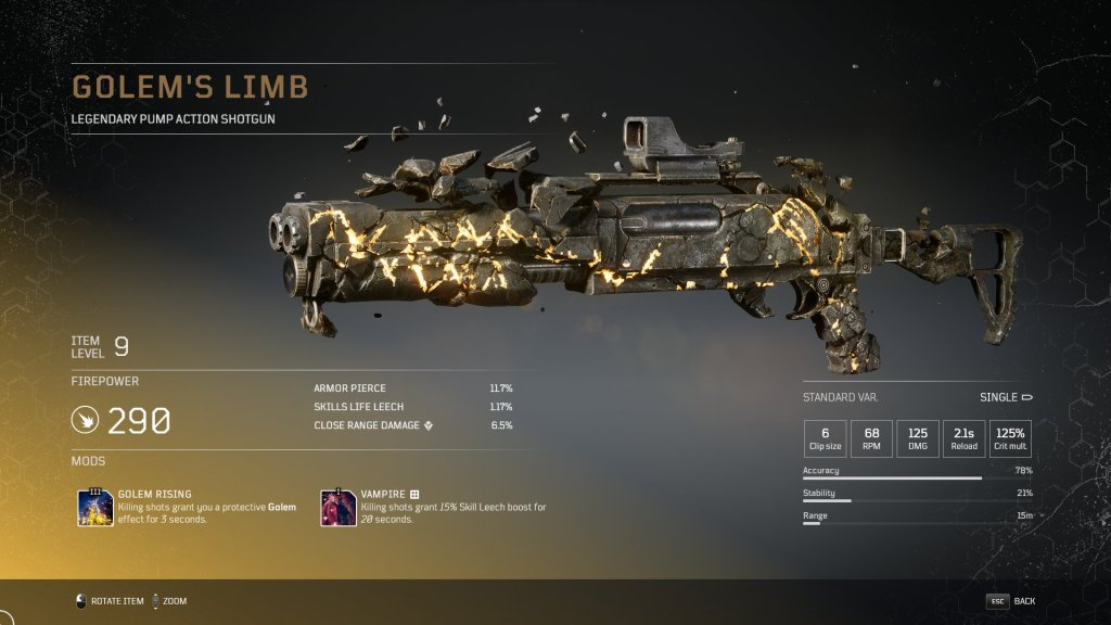 Outriders All Legendary Weapons Legendary Shotgun Weapons Outriders