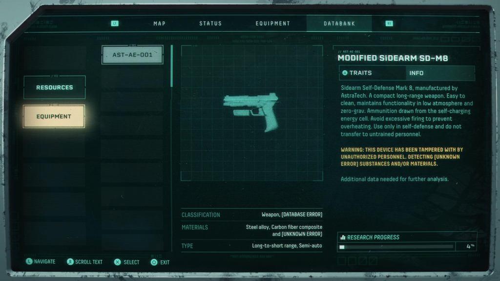 Returnal Weapons: All Returnal Weapons Returnal Weapons Sidearm SD M8