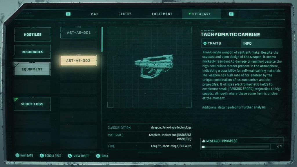Returnal Weapons: All Returnal Weapons Returnal Weapons Tachyomatic Carbine