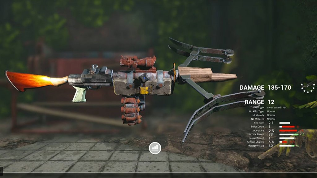 A list of crafting resources in biomutant