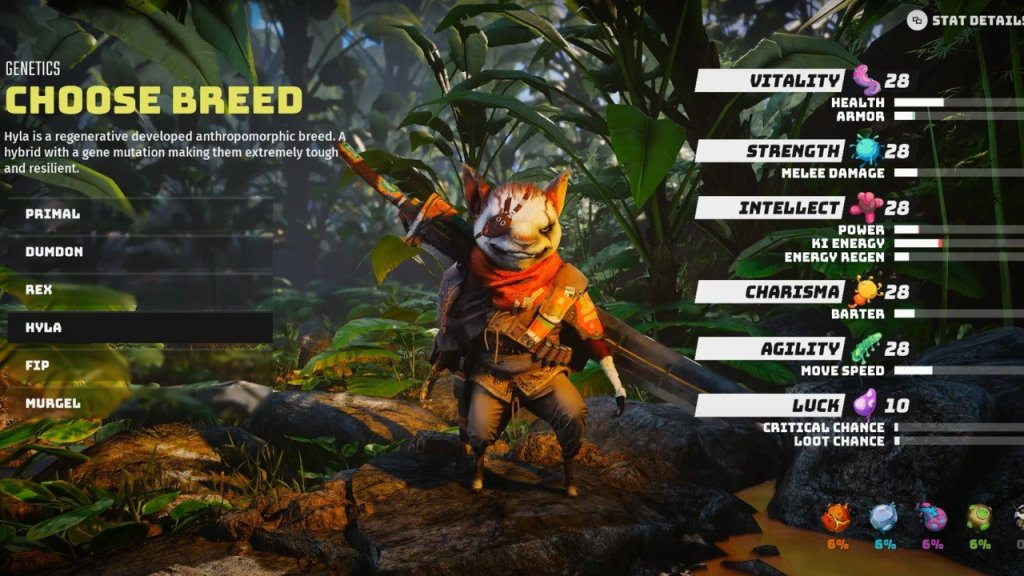 BioMutant Character Customisation: classes, breeds and mutations explained biomutant breed