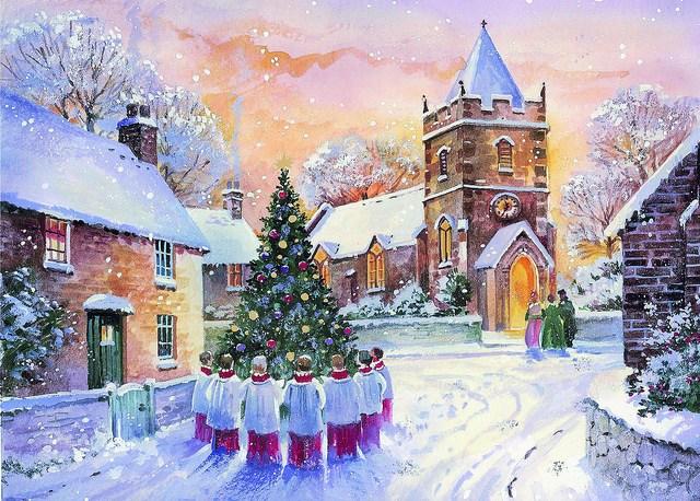 Village Christmas Day Xmasblor