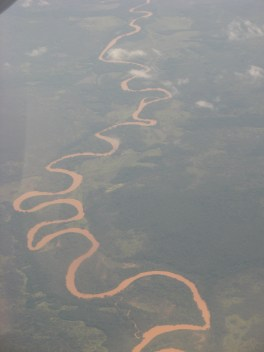The Luembe river from above
