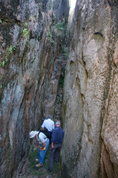 Current day geologists walking the steps of Roman forefathers - vein worked in Roman times