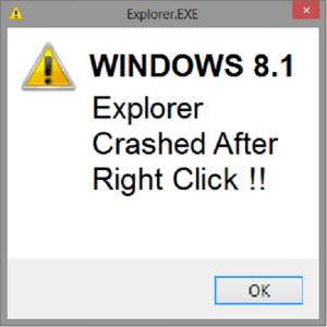 Как исправить сбои проводника при щелчке правой кнопкой мыши в Windows 8