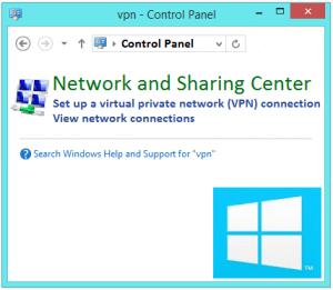 Устранение неполадок VPN-подключения в Windows 8