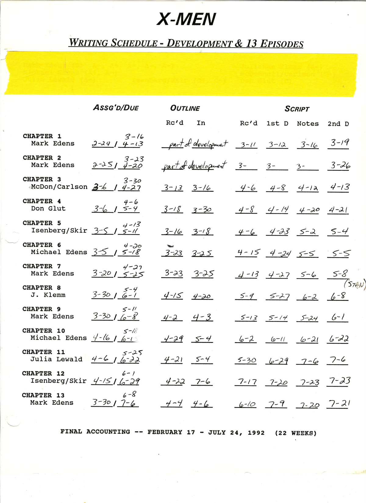 year 1 schedule.png