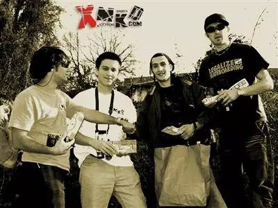 Organizing inline and skateboard contest in Veles, 2004.