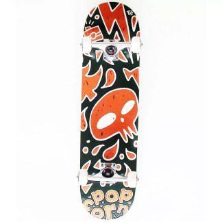 Popcorn feat. FLIM Skull 8.0″ Complete Skateboard