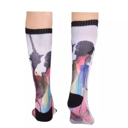Footprint Knee High Socks - Will Barras