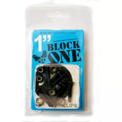 "Block One Skateboard Phillips Hardware 1"""