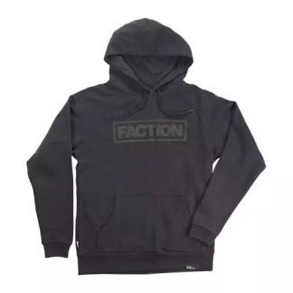 Faction Logo Hoodie Black