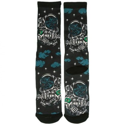 Footprint Knee High Socks - Astro Dog