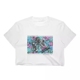 Popcorn x I AM MANCHE Women's Crop Top
