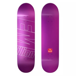 "EMillion Full Metal Dipped Purple 8.25"" Skateboard Deck"
