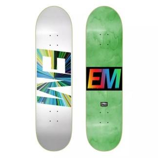 """EMillion Spectrum White 8.0"""" Skateboard Deck"""